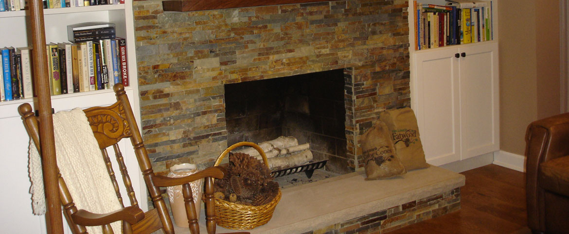 Oak Lane fireplace remodel